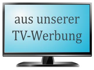 TV Bildschirm aus TV Werbung