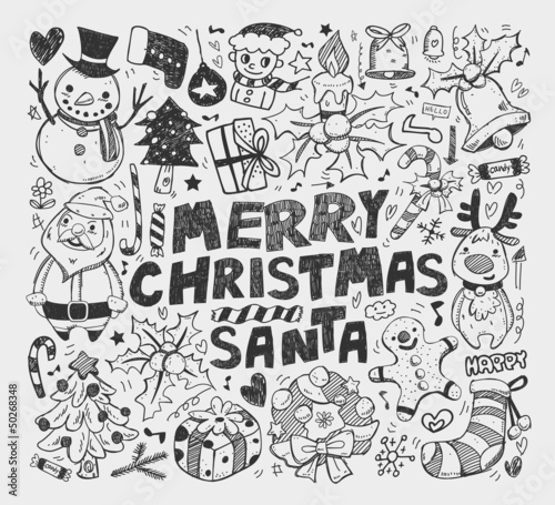doodle christmas element