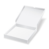 white pizza box on white background