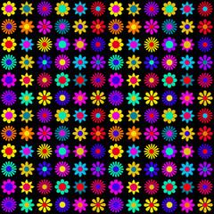 Vibrant flowers pattern