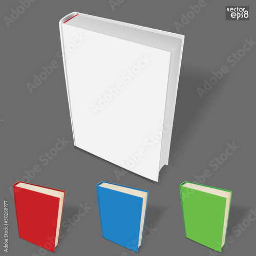book template with color variations