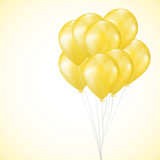 background with yellow balloons