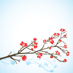 background with sring tree flowers