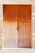 Tür eines Hauseingangs
