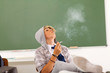 teen student smoking