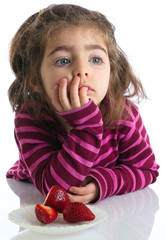 portrait thoughtful little girl