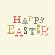 Happy easter lettering. Vector, EPS8