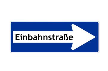 Verkehrszeichen: Einbahnstraße
