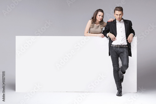 Fantastic couple relaxing in the studio