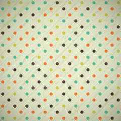 grunge vintage retro background with polka dots