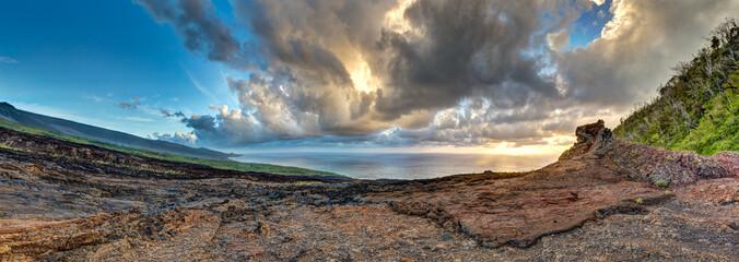 Piton et coulée de l'éruption Avril 2007 - Ile de la Réunion
