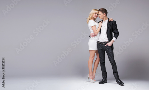 Photo of romantic and attractive couple