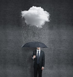 man and rain - Fine Art prints