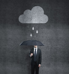 man with cloud