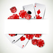 Vector Illustration of a Background with Casino Elements - 50273902