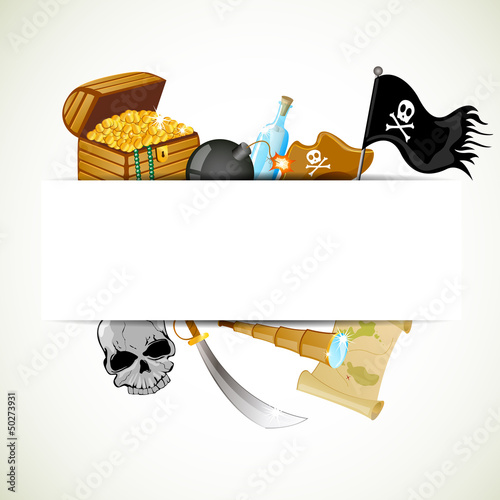 Vector Illustration of a Pirate Background