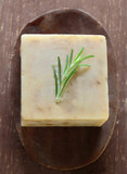 Rosemary on a bar of soap