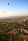 Hot air balloon flying in Cappadocia,Turkey