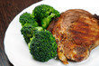 Grilled meat with broccoli