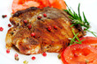 Grilled meat with tomatoes