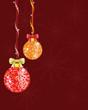 Christmas background with shiny disco balls.