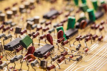 Vintage  populated printed circuit board