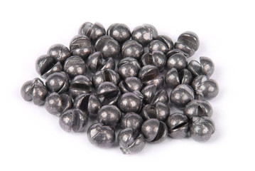 Fishing sinkers in weight one gramme