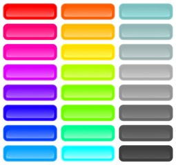 Vector set of colored web  buttons