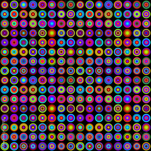 Colorful psychedelic pattern