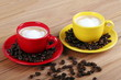 Caffè macchiato in tazza
