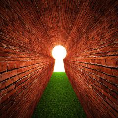 brick  keyhole