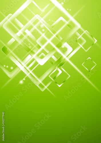 Light green geometrical vector design