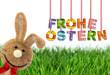 Osterhase wünscht Frohe Ostern