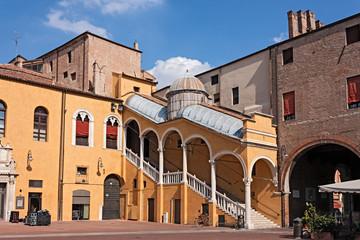 Town Hall Square in Ferrara, Italy