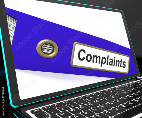 Complaints File On Laptop Shows Complaints