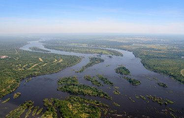 Aerial view of the Zambezi