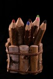 Set of wooden pencils