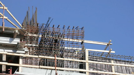 Stock footage of a construction site