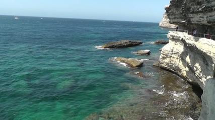 Bonifacio cliff and sea