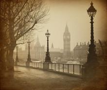 Rétro image de Big Ben / Maisons du Parlement (Londres)