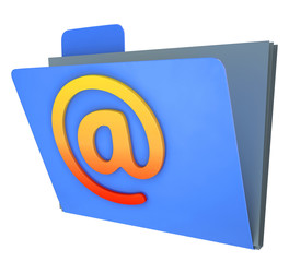 Email Folder Shows Correspondence Organised Into Groups