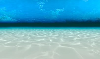 underwater walk on the sea floor