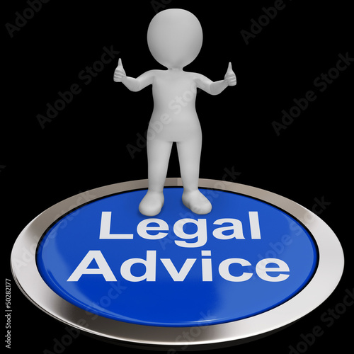 Legal Advice Button Shows Attorney Expert Guidance