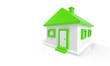 3D Haus Grün Weiß