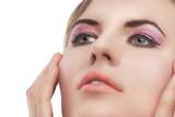 beauty face, pixel retouching poster
