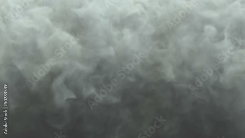 Increasing smoke. Abstract animated smoky background.