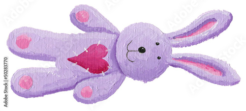 Cute purple rabbit toy