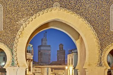 Bab Bou Jeloud gate at Fez, Morocco