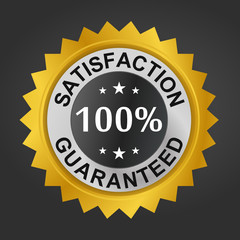 100% Satisfaction Guaranteed - Gold seal