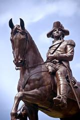 the statue of George Washington in Boston Public Garden